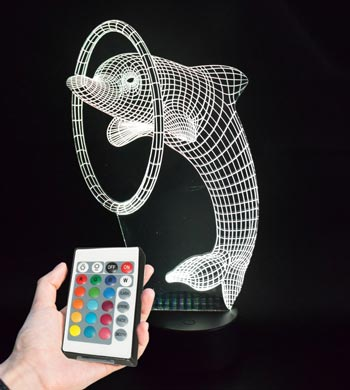 מנורת led דולפין